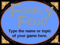 Family Reunions On Pinterest Family Reunions Family Feud And Name Games Family Feud Name Tag Template