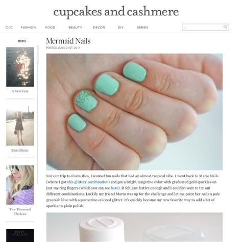 cupcakes and cashmere mermaid nails cupcakes and cashmere stumbleupon