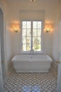 trellis tile floor transitional bathroom the