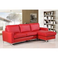 Cheap Fabric Sofas Sutton Reversible Red Leather Corner Sofa