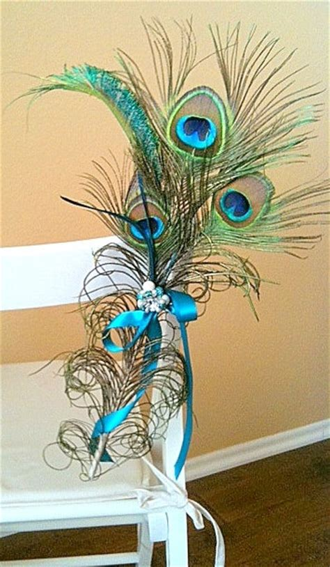 peacock decoration customize this peacock decor for the pews chairs