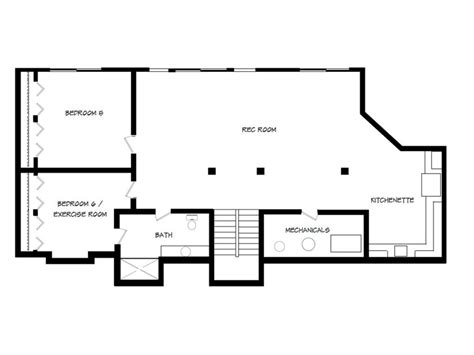 rambler floor plans with basement rambler house plans with walkout basement home designs