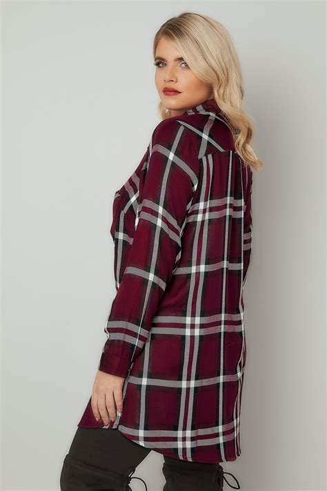 La Senza Chemise Size Xs 1 chemise burgundy style boyfriend avec poches taille 44 224 64