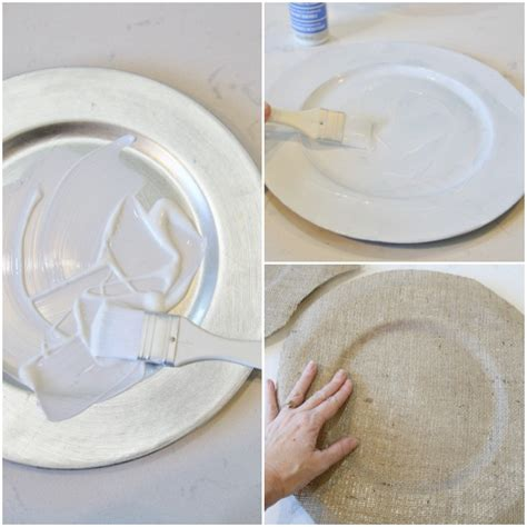 How To Decorate A Charger Plate by Diy Coastal Burlap Chargers Tablescape