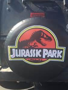 Jurassic Park Jeep Tire Cover Tire Cover 4 X 4 Spare Tires Lost And