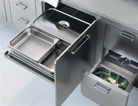 Italian Designed Ergonomic And Hygienic Stainless Steel Stainless Steel Kitchen Designs