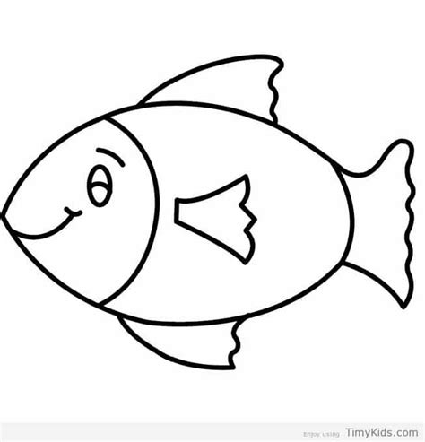 Outline Picture by 30 Fish Outline Coloring Pages For Timykids