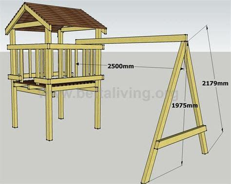 Play Fort Plans The Roof And Swing Set Frame Mecanismos
