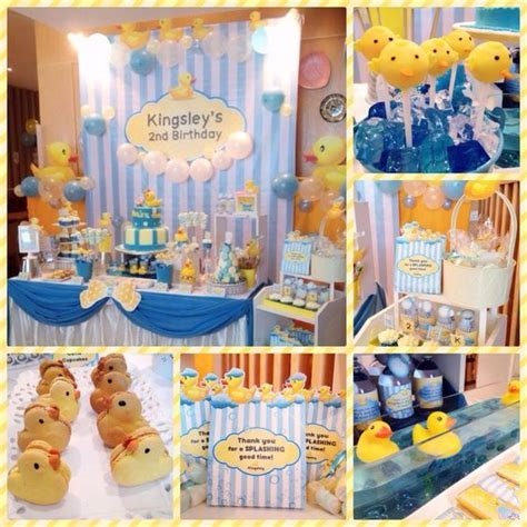 baby themed rubber sts an adorable rubber ducky themed birthday backdrop