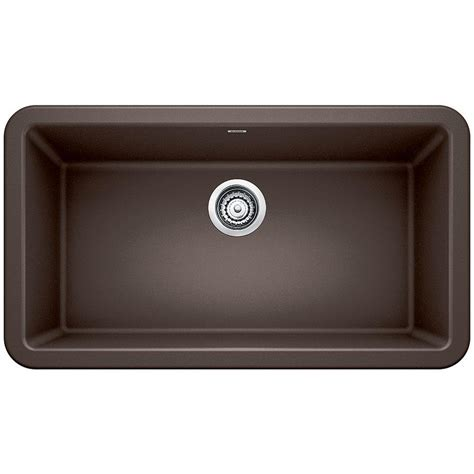Blanco Ikon Apron Front Granite Composite 32 In Single Brown Kitchen Sink