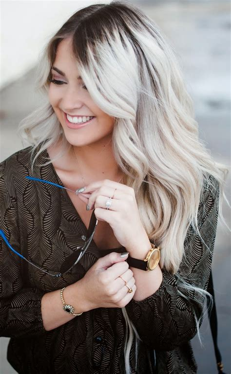 black roots hair dark root ash blonde hair inspiration pinterest