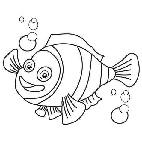 clown fish coloring pages bestappsforkids com