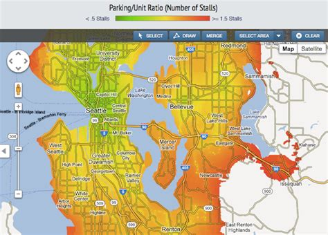 seattle map gis mapping the subtle science of parking demand transit gis