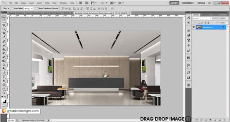 Photoshop Interior Rendering by Realistic Details In Interior Rendering In Photoshop