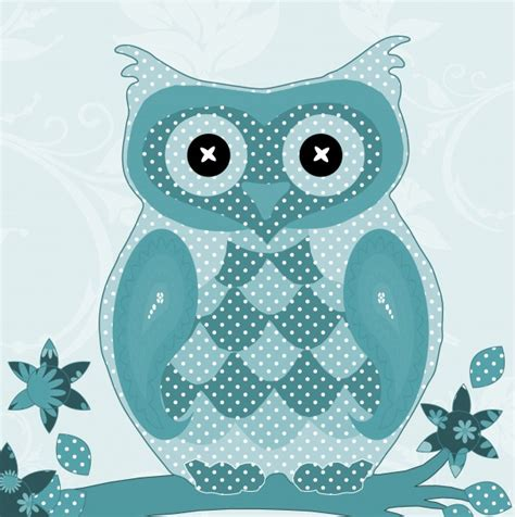 cute pattern teal owl patterned cute teal color free stock photo public