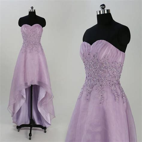 Handmade Prom Dresses - lavender prom dresses lace applique bridesmaid dress