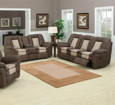 apartment recliner sofa and loveseat recliner sets max chocolate reclining
