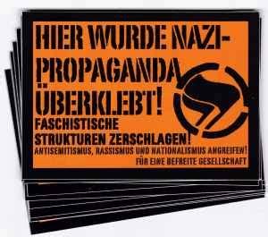 Aufkleber Bestellen Antifa by Autonome Linke Weimar