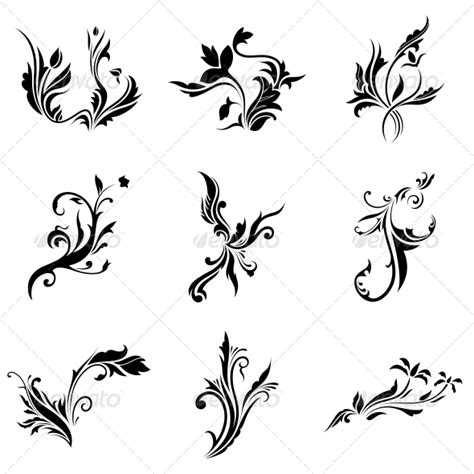 abstract tribal decorative flowers vector pack graphicriver