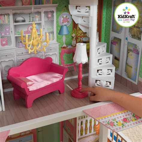 girls wooden dolls house kidkraft sweet savannah dollhouse wooden dollshouses girls dolls toys ebay