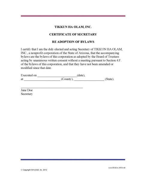 bylaws for a nonprofit organization template bylaws for a nonprofit organization template images
