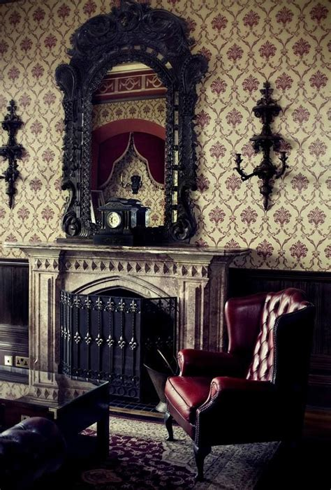 Gothic Living Room | 18 cool gothic living room designs digsdigs
