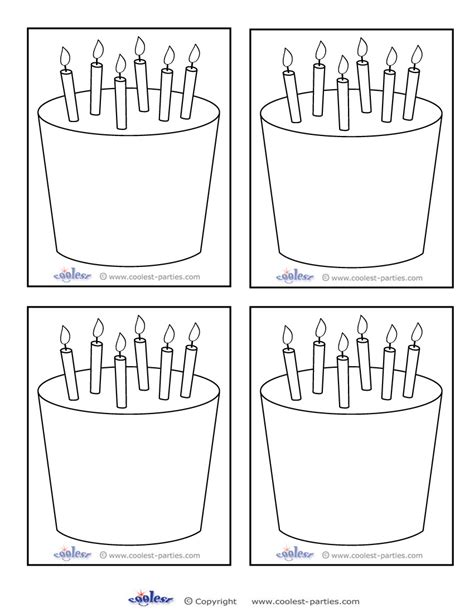 birthday cake templates 7 best images of printable template birthday cake