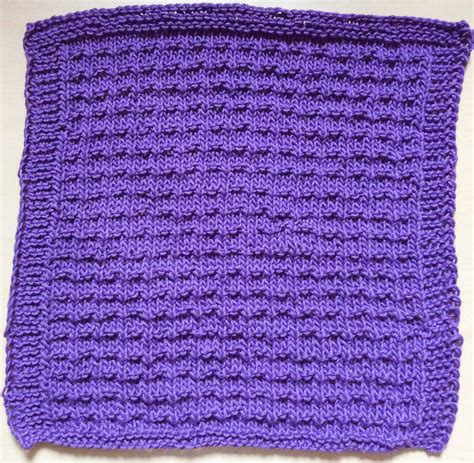 knitting pattern video tutorial knitting pattern double andalusian stitch dishcloth with