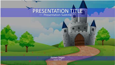 Free Fairy Tale Castle Powerpoint 15088 Sagefox Powerpoint Templates Tale Template Powerpoint