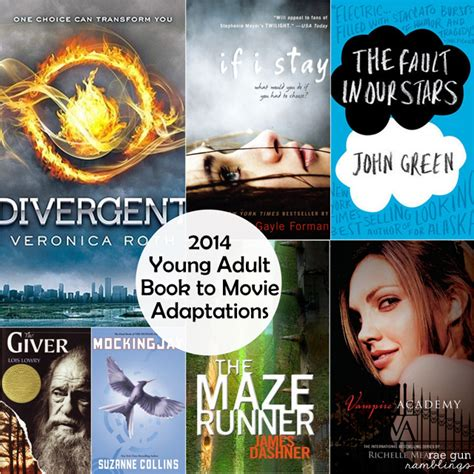7 Best Book To Adaptations by 2014 Ya Book To Get Excited About Gun Ramblings