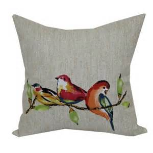 walmart patio pillows mainstays 16 quot painted birds outdoor pillow walmart