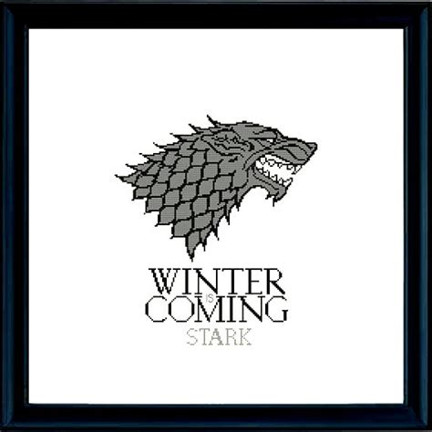 thrones coloring book etsy house stark of thrones cross stitch pattern pdf