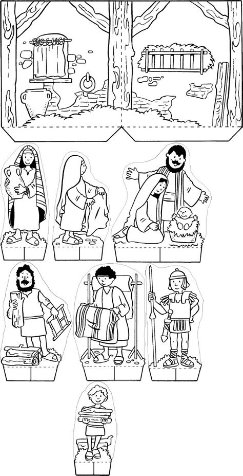 nativity diorama coloring pages a special night in bethlehem christmas nativity scene