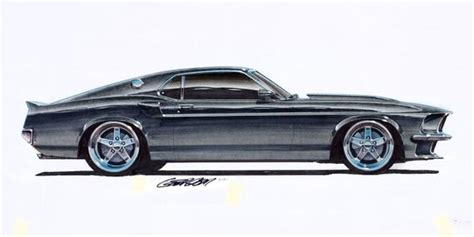 ford mustang boss  project car   art