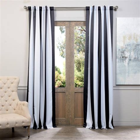 Black And White Blackout Curtains Exclusive Fabrics Furnishings Semi Opaque Awning Black And White Stripe Blackout Curtain 50