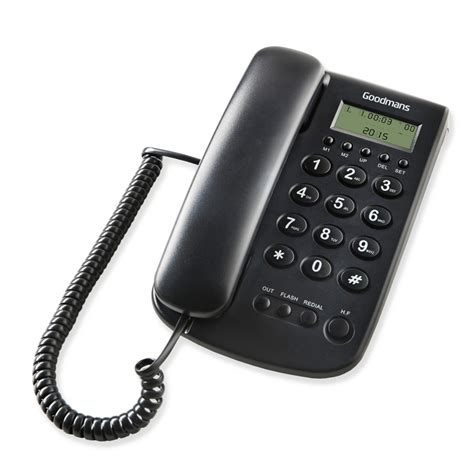 Desk Phone Accessories Goodmans Desk Phone Black Cordless Telephones