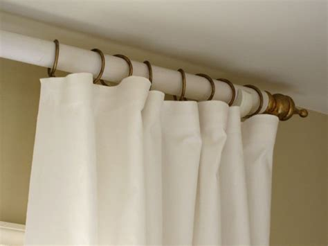 sewing draperies how to make a curtain rod and finials with a tennis ball
