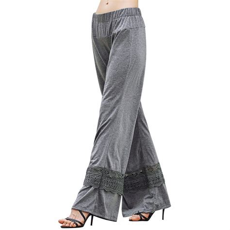 plazo for woman women ladies vintage loose high waist long trousers lace