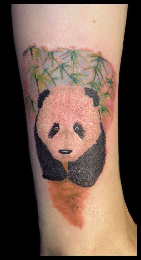panda tattoo on leg 14 panda tattoos ideas for legs