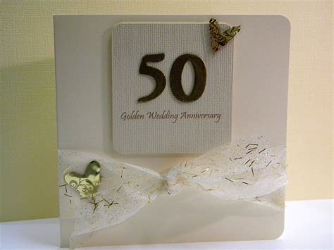 Handmade 50th Wedding Anniversary Cards - 50th wedding anniversary card the handmade card