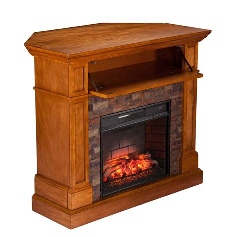 Corner Electric Fireplace Tv Stand Southern Enterprises Rosedale Corner Electric Fireplace Tv Stand Fi9345