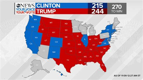 donald trump electoral votes abc news on twitter quot latest donald trump leading hillary