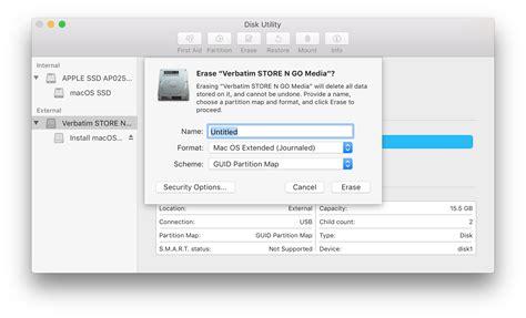 format external hard drive mac os high sierra how to create macos 10 13 high sierra beta bootable usb drive