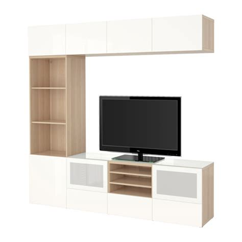 besta tv combination best 197 tv storage combination glass doors white stained