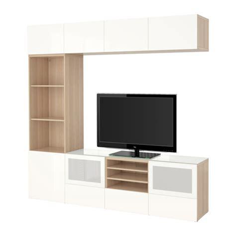 ikea besta pl best 197 kombinacja na tv szklane drzwi dąb bejcowany biało