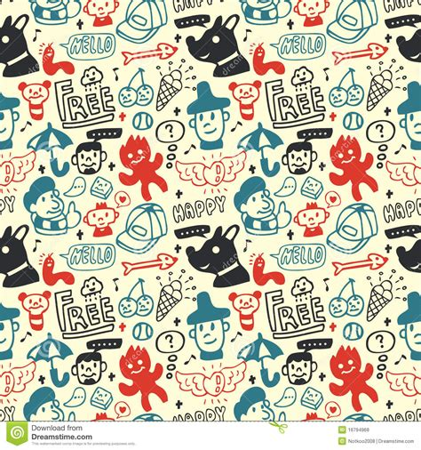 seamless pattern collection funny creatures collection seamless pattern royalty free