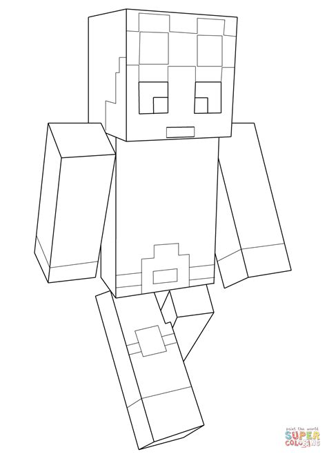minecraft coloring pages monsters minecraft dantdm coloring page free printable coloring pages