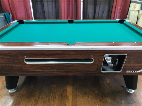 table 060817 valley used coin operated pool table used