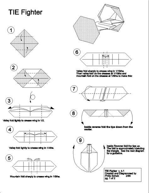 Origami Tie Fighter - tie fighter ties and origami on