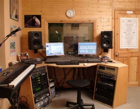 outstanding home recording studio design contemporary
